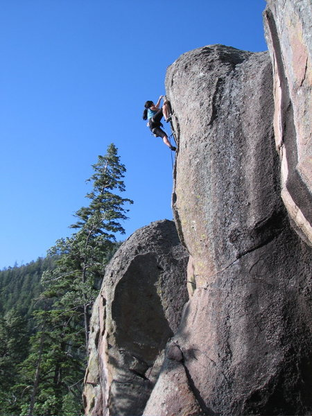 Rock Climbing Photo: Hepcat cruises Bold is Love, a new route at West E...