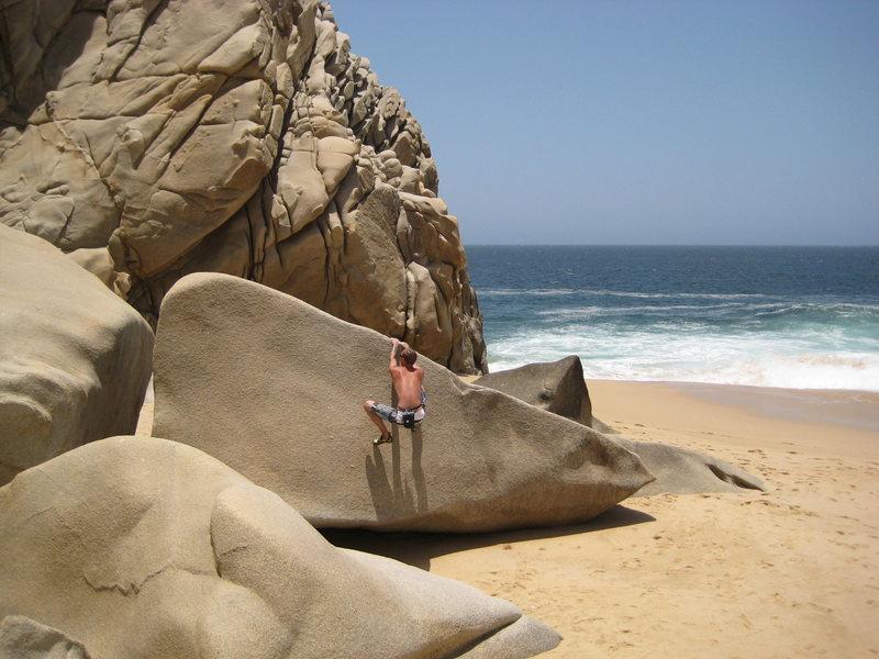 Rock Climbing Photo: Getting warmed up
