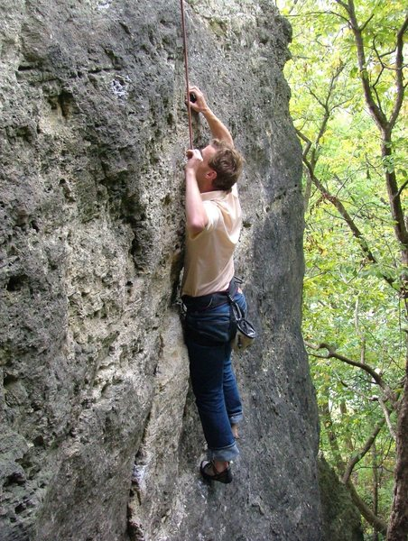 Rock Climbing Photo: JB Waterman works the North Face.