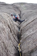 Rock Climbing Photo: P2 of The Odyssey, Looking Glass.