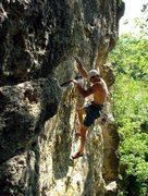 Rock Climbing Photo: Tom, having moved over, proceeds to move up.  This...
