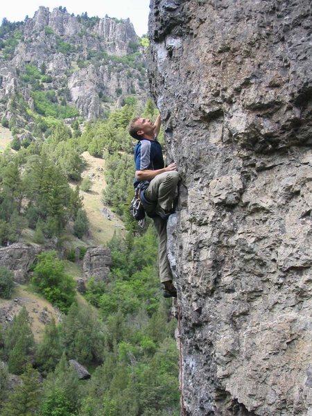 Rock Climbing Photo: Me climbing up Logan Canyon.