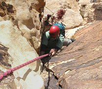 Rock Climbing Photo: Approaching the top of the pitch 2 corner.