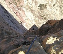 Rock Climbing Photo: Above the big corner on the dihedral variation, ea...