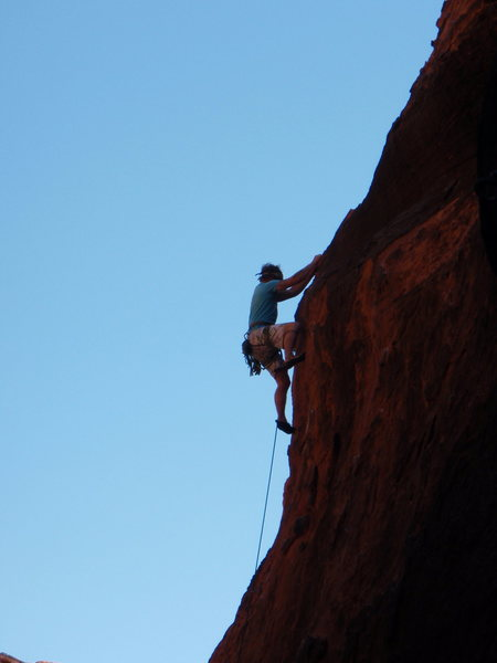 Moving through the crux.