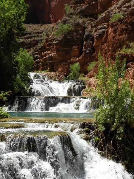 Rock Climbing Photo: Beaver Falls located in Havasupai, Arizona.