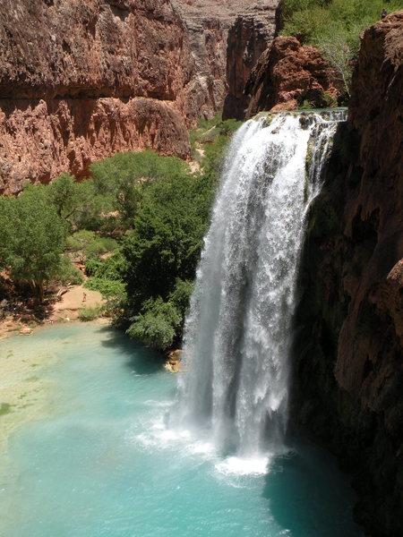 Havasu Falls located in Havasupai, Arizona.