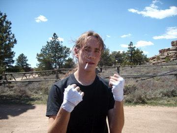 Rock Climbing Photo: Boxing gloves.