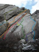 Rock Climbing Photo: 1. Part Time Crack 5.5 2. Blue Collar Crack 5.9+ 3...
