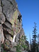 Rock Climbing Photo: Smells good, doesn't it? Gone Fishin in the backgr...