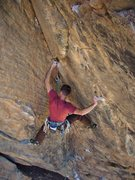 Rock Climbing Photo: Steve mid-crux on his send of Scary Canary.