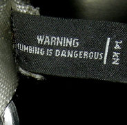 Rock Climbing Photo: warning: