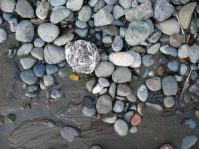 Surfside rocks and debris, Houda Point