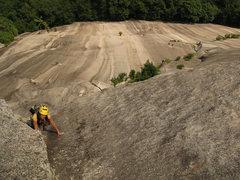 Rock Climbing Photo: Following the crux