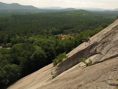 Rock Climbing Photo: A leader on Sliding Board, taken from the Standard...