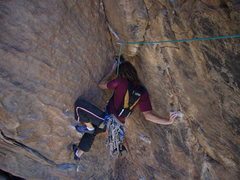 Rock Climbing Photo: I'm sure it would have been easier to follow this ...
