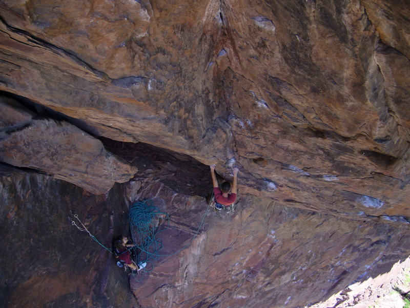 Rock Climbing Photo: Overview of the beginning to the second pitch.