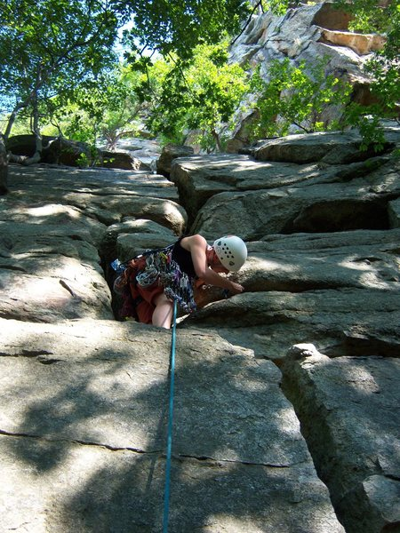 Rock Climbing Photo: P1 of Betty. My first trad lead...following in the...