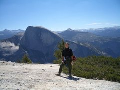 Rock Climbing Photo: Half Dome from the top of North Dome, Yosemite, CA