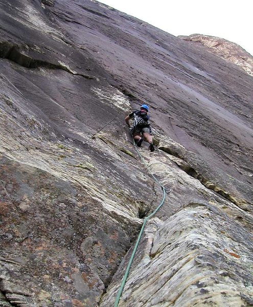 Rock Climbing Photo: The starting moves on Refried Brains.