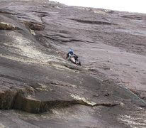 Rock Climbing Photo: Higher on the first pitch.