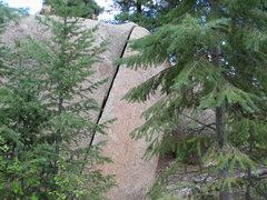 Rock Climbing Photo: Fun easy crack problem.
