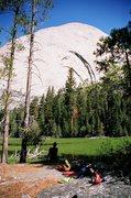 Rock Climbing Photo: Taking a break at Lost Lake below Half Dome.