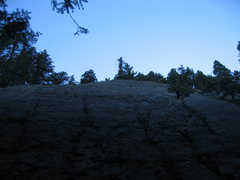 Rock Climbing Photo: At the base of the anomaly. It is quite licheny. T...