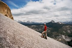 Rock Climbing Photo: Snake Dike ends in 3rd class slabs, which was pret...