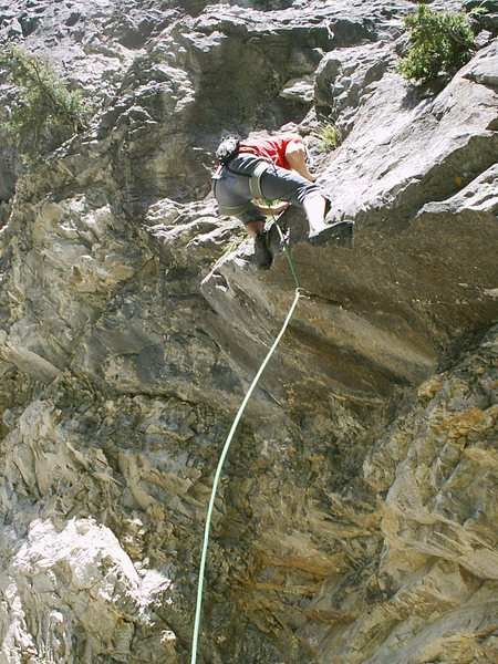 Christian finishing the crux