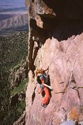 Rock Climbing Photo: Carolyn Parker on the spectacular 4th pitch of Lit...