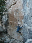 Rock Climbing Photo: Pete on the right side of The Hungover Traverse (V...