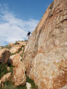 Rock Climbing Photo: Enjoying the friction on the left side of Joe Brow...