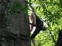 Rock Climbing Photo: me climbing in palisades