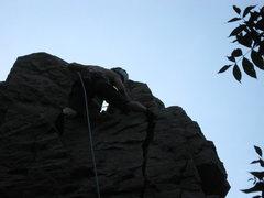Rock Climbing Photo: me toppin out it was a short climb 50 60 feet
