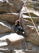 Rock Climbing Photo: Wendy Weiss following Howdy Doody Time on Dude's C...