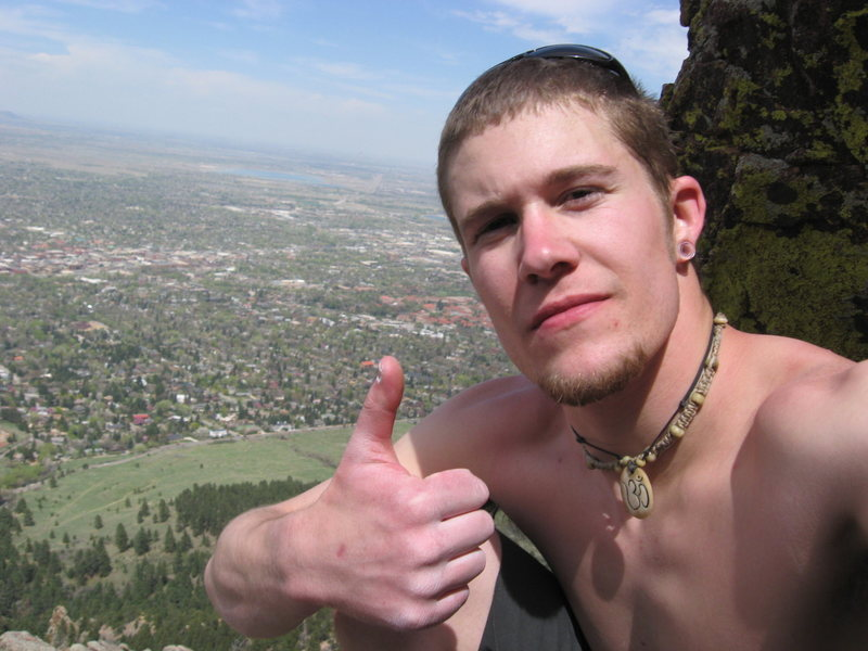 Rock Climbing Photo: me on top of the first flatiron checkin it out