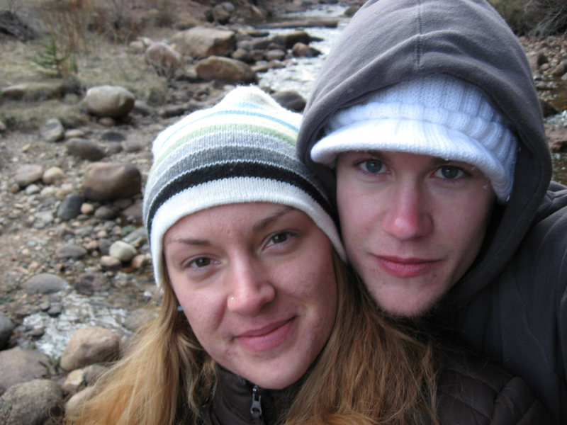 my beautiful wife and i in estes park
