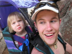 Rock Climbing Photo: my beautiful daughter and i on a hike