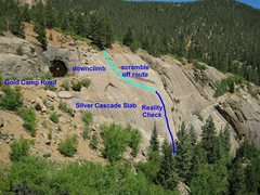 Rock Climbing Photo: Approximate Reality Check route.