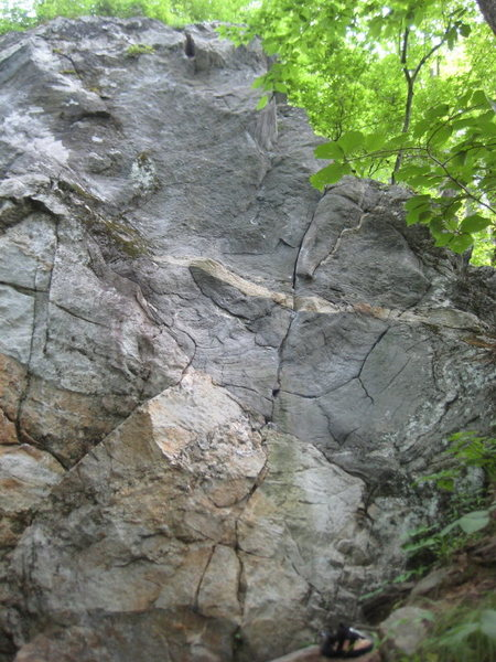 Rock Climbing Photo: This is the route.