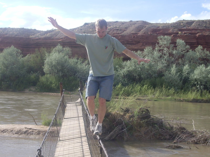 Swinging Bridge over the San Juan River