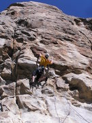 Rock Climbing Photo: The pumpy crux section on Pogemahone...