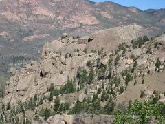 Rock Climbing Photo: Big Rock Candy Mountain as seen from Metberry Gulc...