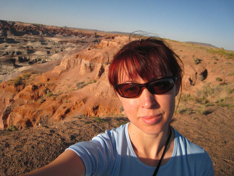 Tilted world in the Little Painted Desert of Arizona.<br> May 2008