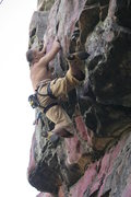 Rock Climbing Photo: Rousey pulling through the hard stuff on No Go Cra...