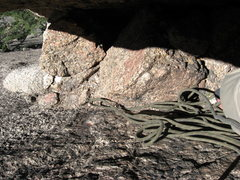 Rock Climbing Photo: This is the belay ledge we used at the top of P1 (...