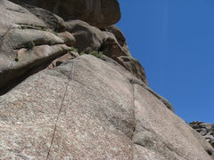 Rock Climbing Photo: Heading up to the top of P2.  There are some decom...