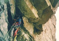 Rock Climbing Photo: The author on the 1st ascent.