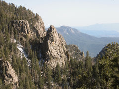 Rock Climbing Photo: The Sentinel as seen from the top of 2nd Coming (5...
